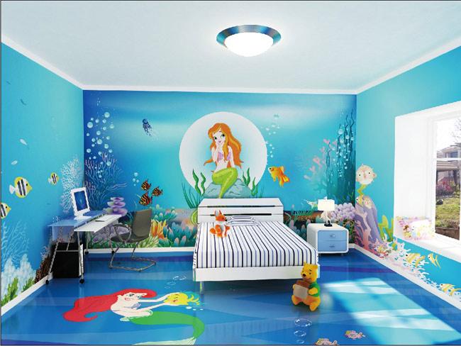 儿童壁画效果图